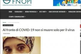 意大利护士自杀由于这一件事没做好导致数千名医护人员感染!