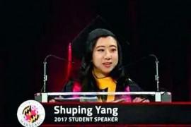 马里兰大学杨舒平回国了吗其毕业演讲呲必中国现返华避疫收不收
