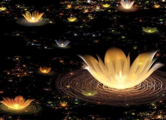 现代散文诗《你是一朵莲我是莲灯一盏》(图)
